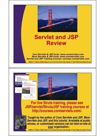 Servlet and JSP Review - Custom Training Courses - Coreservlets ...