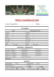 Anmeldung zur Jagd2 - Jagdreisen Muraun