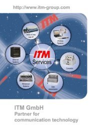 Our services - ITM GmbH