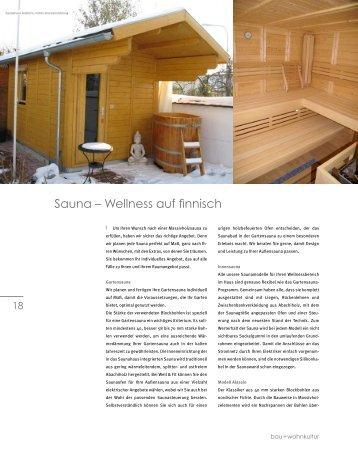 Sauna – Wellness auf finnisch - bau + wohnkultur Rhein-Neckar
