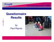 Programme management SIG questionnaire results - Association for ...