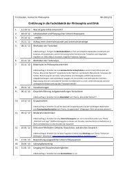 Seminarplan (Termin B) - Donat Schmidt