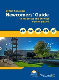 Newcomers' Guide to Resources and Services in ... - WelcomeBC