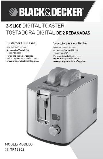 2-slice digital toaster tostadora digital de 2 rebanadas - Applica Use ...