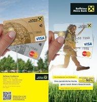 Kreditkartenfolder - Raiffeisen CardService
