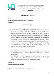 Faça o download do Regimento Geral em PDF - Unorp