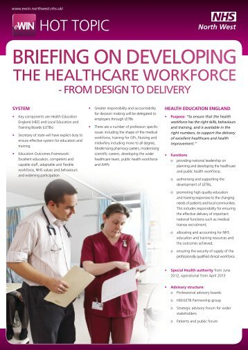 Briefing on Developing the Healthcare Workforce