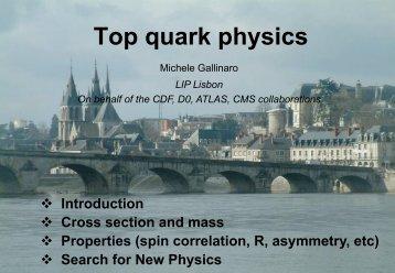 Top quark physics - rencontres de blois