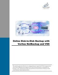 Online Disk-to-Disk Backup with Veritas NetBackup and VSS - Intransa