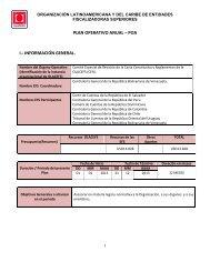 Plan Operativo Anual - POA 2013 - olacefs