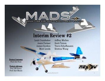 IR2 - Aerospace Engineering Sciences Senior Design Projects