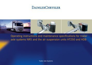 Operating instructions and maintenance specifications