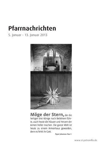 Pfarrnachrichten - St. Petronilla
