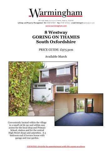 8 Westway GORING ON THAMES South Oxfordshire - Warmingham