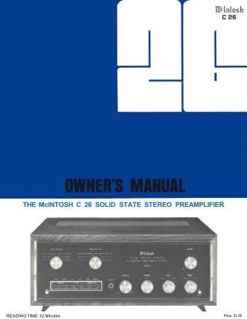 Owner's Manual (pdf)