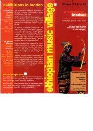 Ethiopian Music Village 1993 - Cultural Co-operation