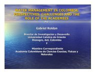 water management in colombia: perspectives, challenges ... - ianas