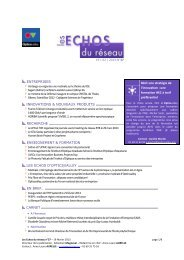 Les Echos du Réseau n°37 - 19 février 2013 - Opticsvalley