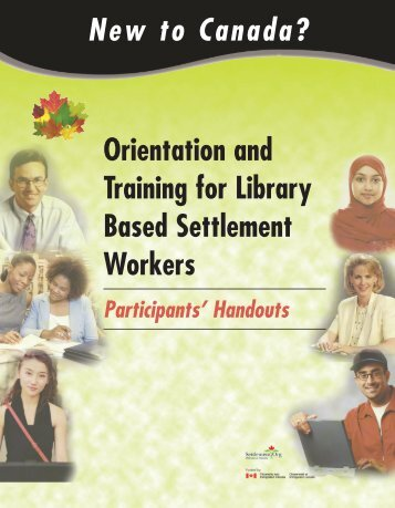 Orientation and Training for Library Based Settlement Workers