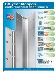 to view this brochure from SELECT Hinges - NFMT
