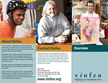 Corporate Brochure - Vinfen