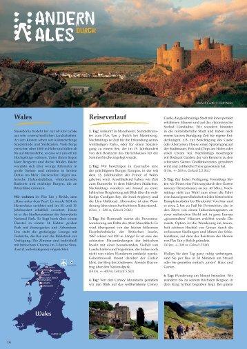 Wales Reiseverlauf