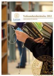 Verksamhetsberättelse 2012 - Humanekologi Lunds universitet