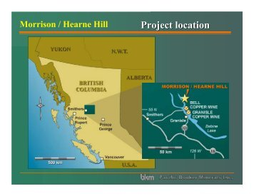 Project location - Minerals North