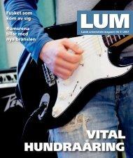 LUM nr 3 - 23 mars (PDF 4MB, Nytt fönster) - Humanekologi Lunds ...
