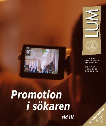 Promotion i sökaren - Humanekologi Lunds universitet