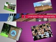 Liverpool Hope University - UNEECC