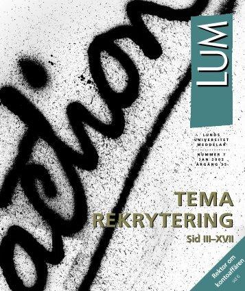 LUM nr 1 - 25 januari (PDF 2,7 MB - Nytt fönster) - Humanekologi ...