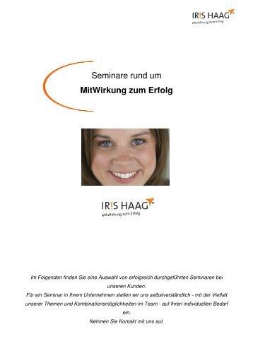 MitWirkung zum Erfolg - IRIS HAAG® Training & Beratung GmbH