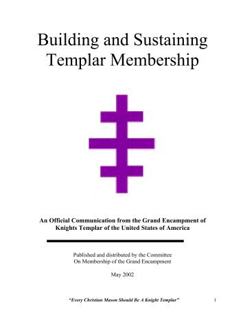 Membership Booklet - Grand Encampment, Knights Templar