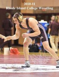 2010-11 Wrestling Media Guide - Rhode Island College Athletics