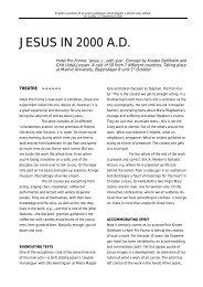 JESUS IN 2000 A.D. - Hotel Pro Forma