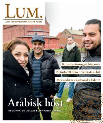 LUM nr 9 dec 2012, jan 2013 - Humanekologi Lunds universitet