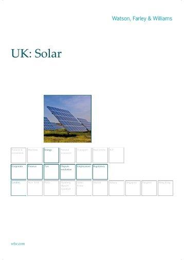 UK: Solar - Watson, Farley & Williams