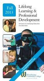 Lifelong Learning & Professional Development - Westchester ...