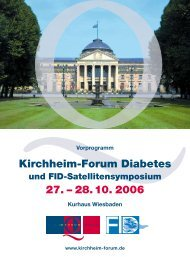 Kirchheim-Forum Diabetes 27. – 28. 10. 2006