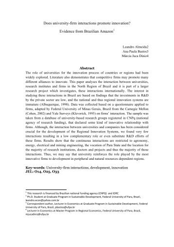 Does university-firm interactions promote innovation? Evidence from ...