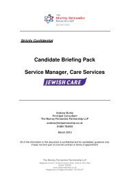 Candidate Briefing Pack Service Manager, Care ... - Jewish Care
