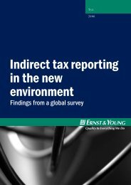 Indirect tax reporting in the new environment - EY Ernst Young