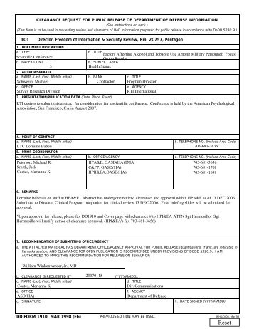 DD Form 2536, Request for Armed Forces Participation in Public ...