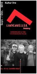 Programmheft Sept - Okt 2010 - Lindenkeller