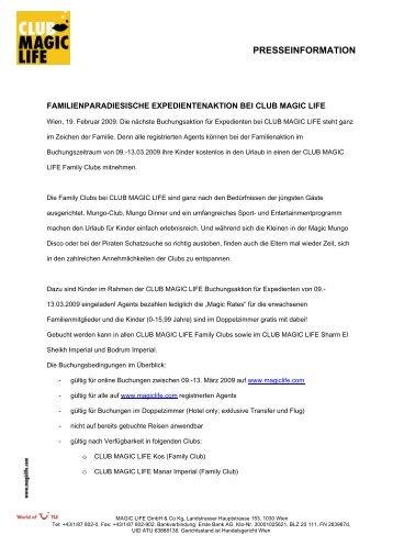 PRESSEINFORMATION - Club Magic Life