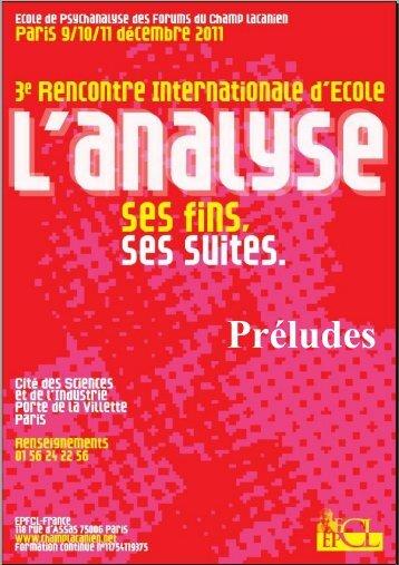 Préludes - Internationale des Forums