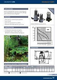 GRUNDFOS KPb DRAiNAGE PUMPS - Dural Irrigation