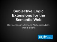 Subjective Logic Extensions for the Semantic Web