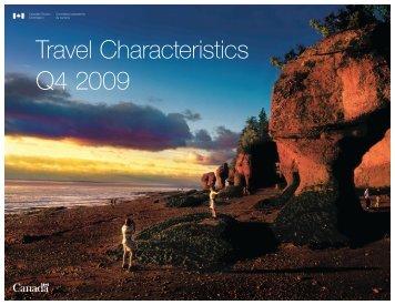 Travel Characteristics Q4 2009 - Canadian Tourism Commission ...